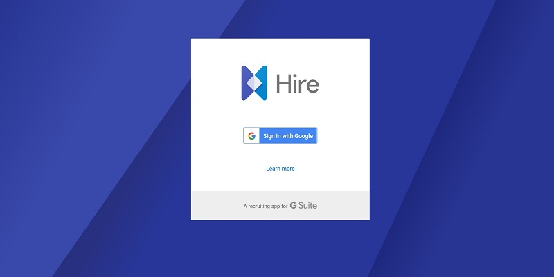 Google Hire for G-Suite